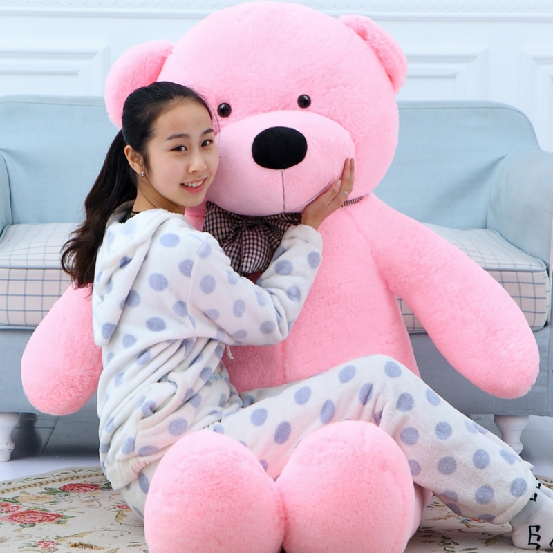 220cm large teddy bear giant big plush toys Life size teddy bear stuffed animals Children soft peluches Birthday gift 2018 huge giant plush bed kawaii bear pillow stuffed monkey frog toys frog peluche gigante peluches de animales gigantes 50t0424