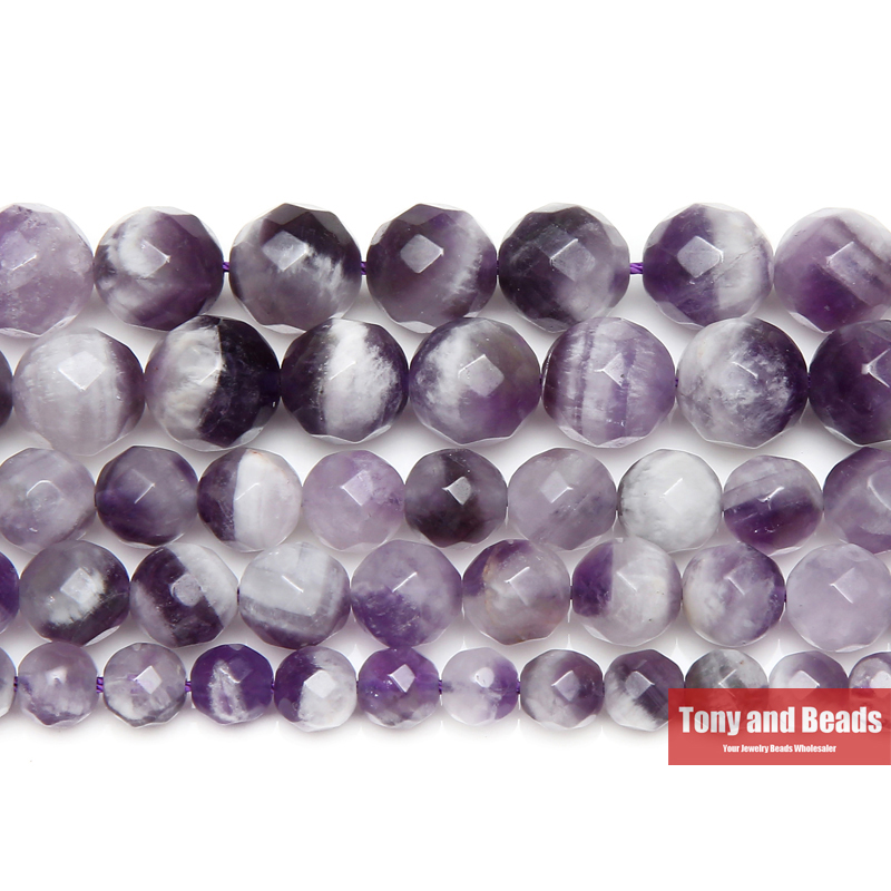 """4MM PURPLE PYRITE INCLUSIONS GEMSTONE GRADE AA FACETED ROUND LOOSE BEADS 15.5/"""""""