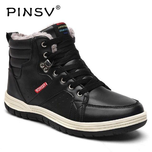 Duży rozmiar 39-48 śnieg buty męskie buty zimowe ciepłe pluszowe buty na zimę męskie obuwie czarny buty robocze PINSV