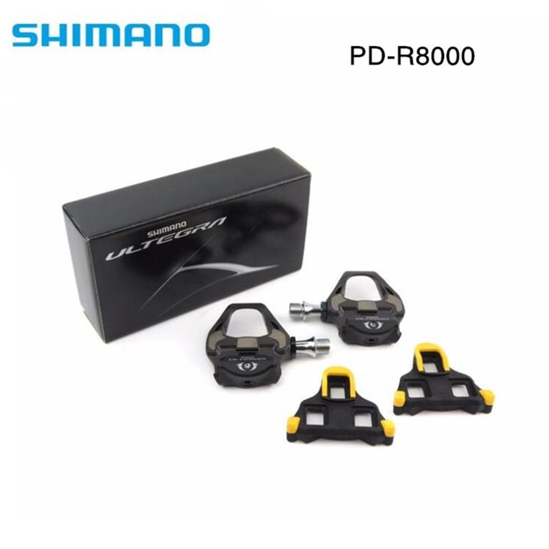 цена на Shimano Ultegra PD-R8000 Road TT Triathlon Bike Carbon Pedals & SM-SH11 Cleats R8000 pedal