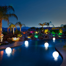 Rechargeable Remote Control LED Garden Ball Lights Waterproof Swimming Pool Floating Balls Lawn Lamps Outdoor Night Lights rechargeable remote control garden ball lights waterproof lawn lamps led balls illuminated outdoor night lights decoration