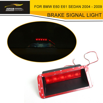 Red Plastic Car LED Brake Lamps Auto Rear Stopping Brake Signal Light 17CM For BMW E60 E61 Sedan 4 Door 2004 - 2009 E60 M5 image