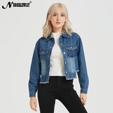 26aca5cafa Irregular jaqueta jeans boyfriend mulheres outono moda casual jeans casacos  curtos para senhoras coreano vestuário feminino oute.