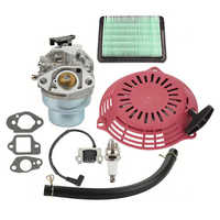 GOOFIT 3 Holes Recoil Pull Starter Assembly for Honda GCV160 Lawn mower  Engine Red K071-306