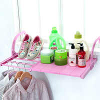 Multifunction Home Balcony Hanging Shelf Adjustable Foldable Clothes Shoes Drying Racks Holder Storage Organizer Shelves