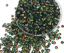 Free shipping 30g(2000pcs)wholesale 4mm Deep Cup Golden platting Black color loose sequins Paillettes sewing Wedding craft DIY