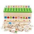 Moda brinquedo de madeira educacional sabedoria learning forma número digital caixa de cor jogo de correspondência bebê toddle crianças brinquedo