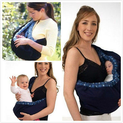 Newborn Baby Infant Adjustable Carrier Sling Wrap Rider Pouch Ring Backpack Bag