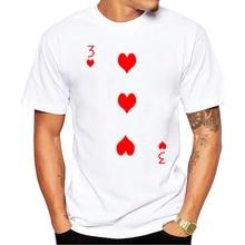 Summer Popular T-shirt men funny clothing top quality fashion men's t shirt 3 of Hearts print casual t-shirt men brand Tee