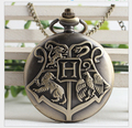 20pcs  Harry potter pocket watch necklace Hogwarts school of witchcraft students quartz watch sweater chain necklace