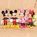 4 шт./компл. Микки Минни мультфильм игрушки куклы дети куклы украшения Автомобильные Украшения день рождения торт украшения