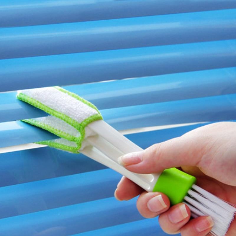 The best portátil doble de ventilación de aire de coche corte cepillo limpiador de polvo persianas teclado cepillos de limpieza 889