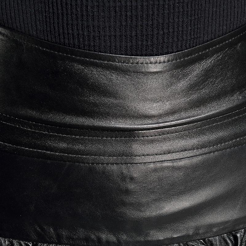 Bureau Mini Cuir Véritable Dentelle Femmes 3xl Club Slim Travail Ligne En Paillettes Sexy Night De Black Haute Fit Jupe Une Grande Taille qZqU6Xg