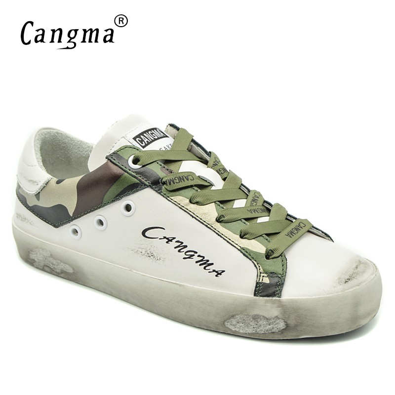 CANGMA Brand Woman Shoes White Sneakers Women Genuine Leather Ons Footwear Camouflage Shoes Ladies Adult Designer Female ShoesCANGMA Brand Woman Shoes White Sneakers Women Genuine Leather Ons Footwear Camouflage Shoes Ladies Adult Designer Female Shoes