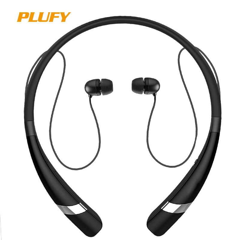 Plufy Bluetooth Headset Wireless Headphones for Mobile Phone with Microphone Sport Stereo Bluetooth Earphone for iPhone Android remax rb s6 wireless bluetooth earphone headphones with microphone sport stereo bluetooth headset for iphone android phone