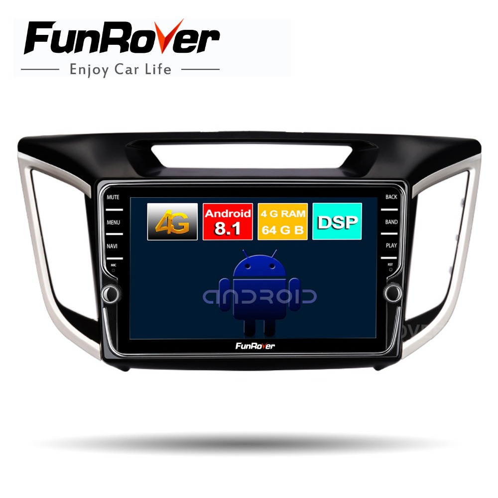 FUNROVER 2 din android 8.1 car dvd multimedia player For Hyundai ix25 2014-2018 Creta radio gps navigation system stereo DSP RDSFUNROVER 2 din android 8.1 car dvd multimedia player For Hyundai ix25 2014-2018 Creta radio gps navigation system stereo DSP RDS