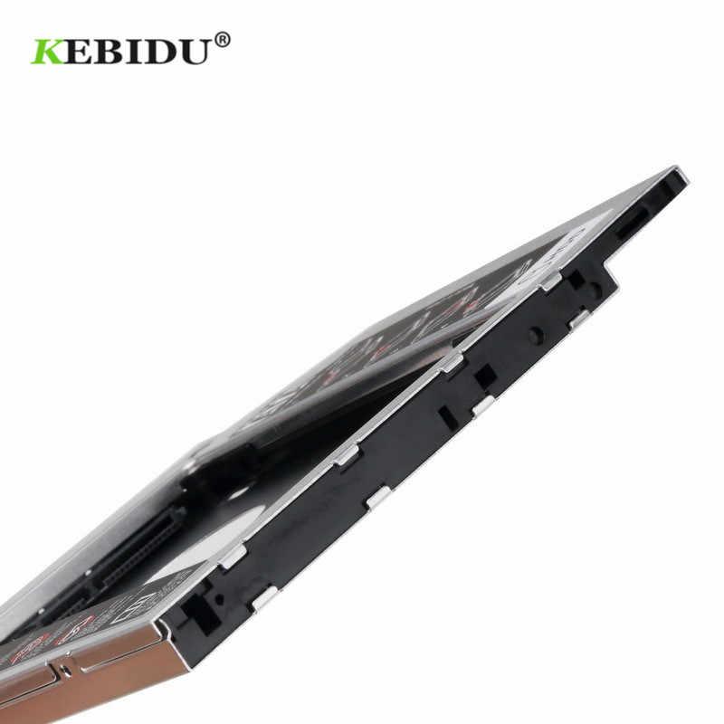 KEBIDU Aluminium Zweite HDD Caddy 12,7 MM 2,5 2nd Ssd Hd SATA Festplatte SSD Fall Adapter Bay für notebook CD-ROM OptiBay