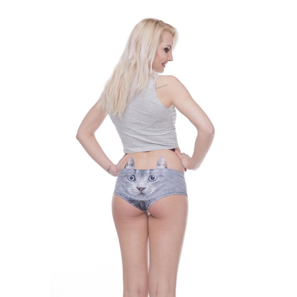 e5d6c6b983de 2018 Unique Design Women Ear Underwear British Kittty 3D Printing Sexy  Panties Woman Fashion Underwear Hot Drop Shipping