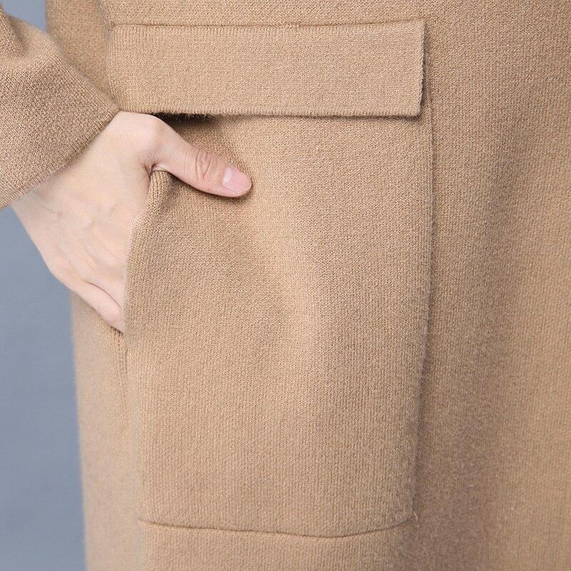 2018 Femmes Marée Chandail Manteau Lâche Tricot Sauvage Pink Qpipsd blue Cardigan Mode Printemps Long Paragraphe Nouveau Et Automne brown 6qvxBqO7