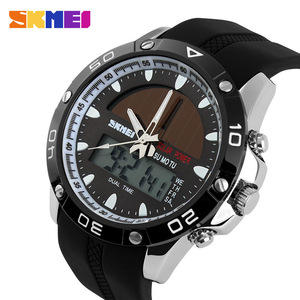 Image 2 - New Energy Solar Watch Men Digital Sports LED Men Watches Solar Dual Display Watches Men Watch Sports Military Wriswatch Relojes