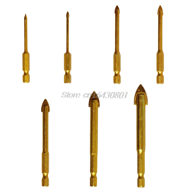 1PC Ceramic Tile Glass Drill Bits 1/4 Kit Electric Tools For Chucks Bit Holder 3mm 4mm 5mm 6mm 8mm 10mm 12mm S08 dmiotech 20 pcs electric drill motor carbon brushes 10mm 11mm 13mm 17mm 6mm 7 5mm 7mm 8mm 9mm
