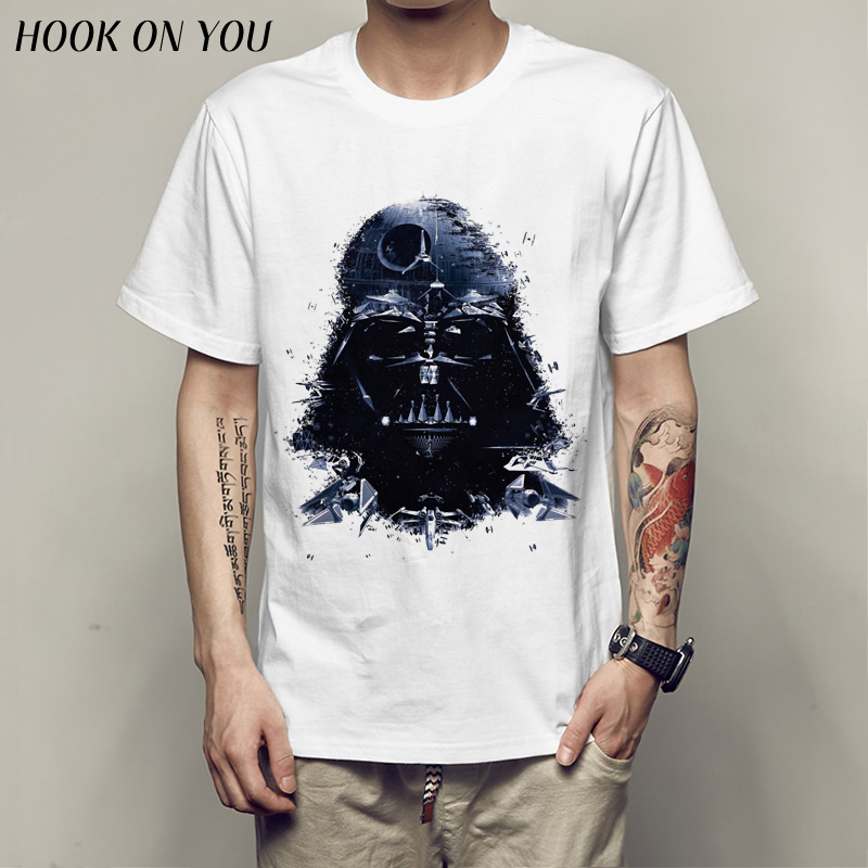star war   T  -  shirts   printed ArmorLock   t     shirt   men Funny novel men 's top tees Harajuku Style warrior   t     shirt   Darth Vader camiseta