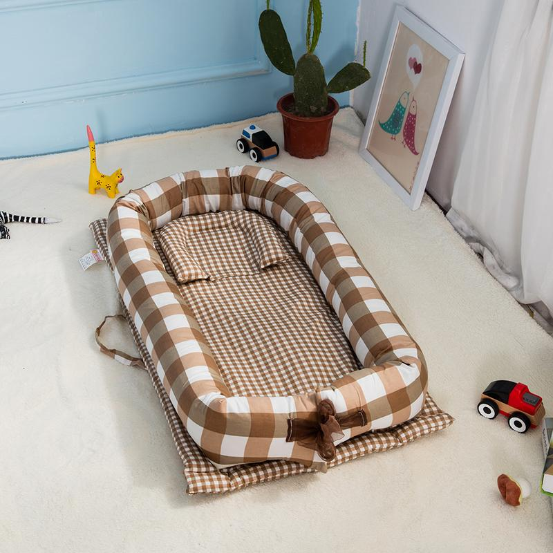 2018 New Multifunction Lightweight Double sided Baby Nest For Newborn Baby Soft Bed In Bed Portable