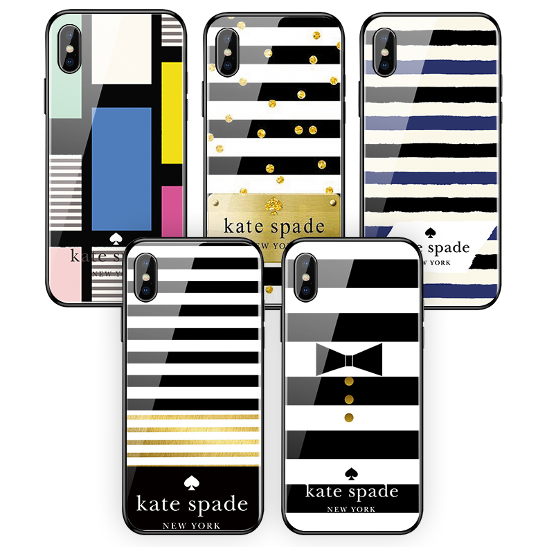 Kate Spade New York Tempered glass Phone cases for Apple iphone XR XS MAX X 6