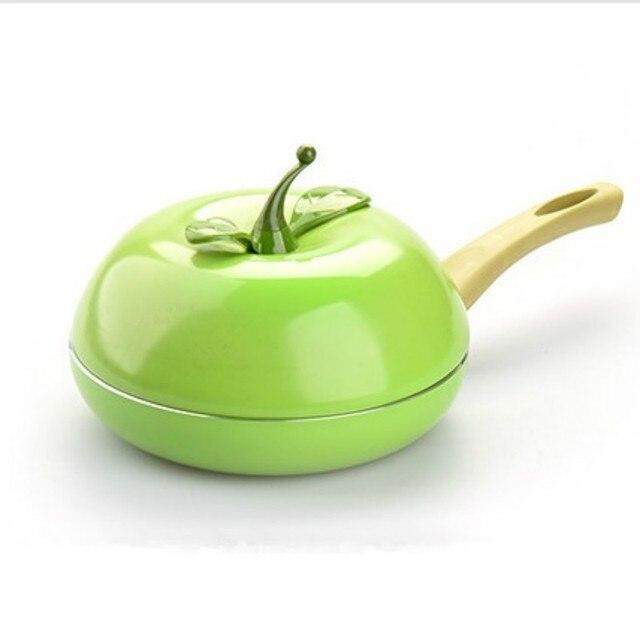 Специальное Предложение Green Apple Фрукты Сковороде Стейк Цвет Яичница Свободной От Табачного Дыма Антипригарным кастрюлю с Крышкой Бесплатно доставка