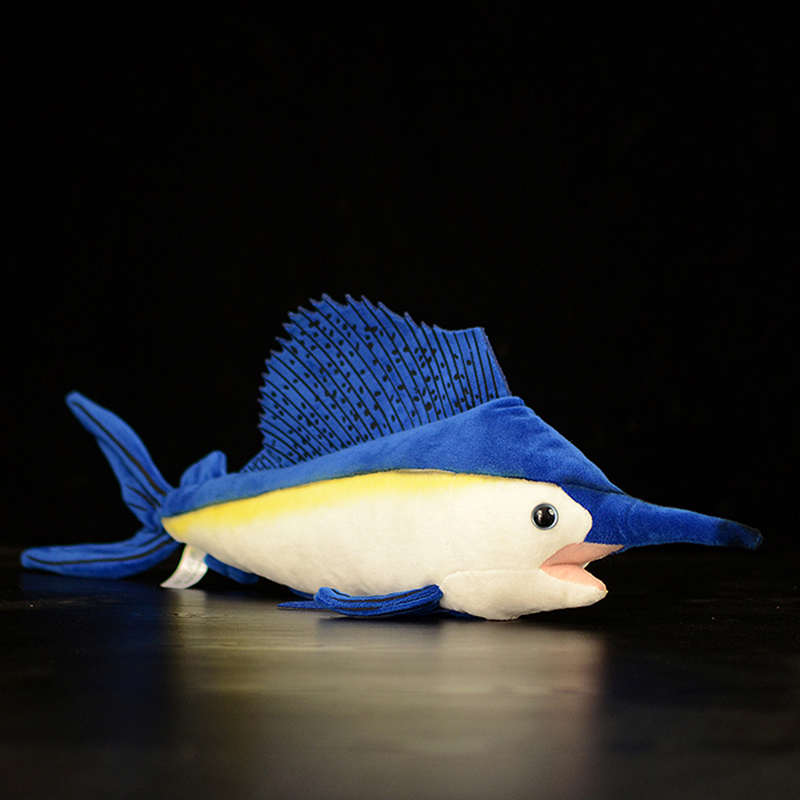 Ocean Sea15.7 Inch / 40cm Long Lifelike Sailfish Stuffed Toys Soft Sea Animals Plush Toy Huggable Fish Plush Dolls For Kids Gift(China)