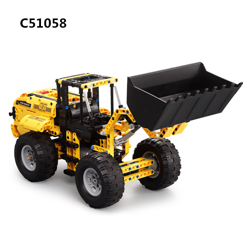 491pcs Bulldozer Excavator USB RC Remote Control Engineering Technic Vehicle Electric Building Blocks Toys C51058 For Kids Gift491pcs Bulldozer Excavator USB RC Remote Control Engineering Technic Vehicle Electric Building Blocks Toys C51058 For Kids Gift
