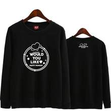 Kpop – sweat-shirt fin unisexe wjsn, pull-over à col rond avec impression happy moment, mode