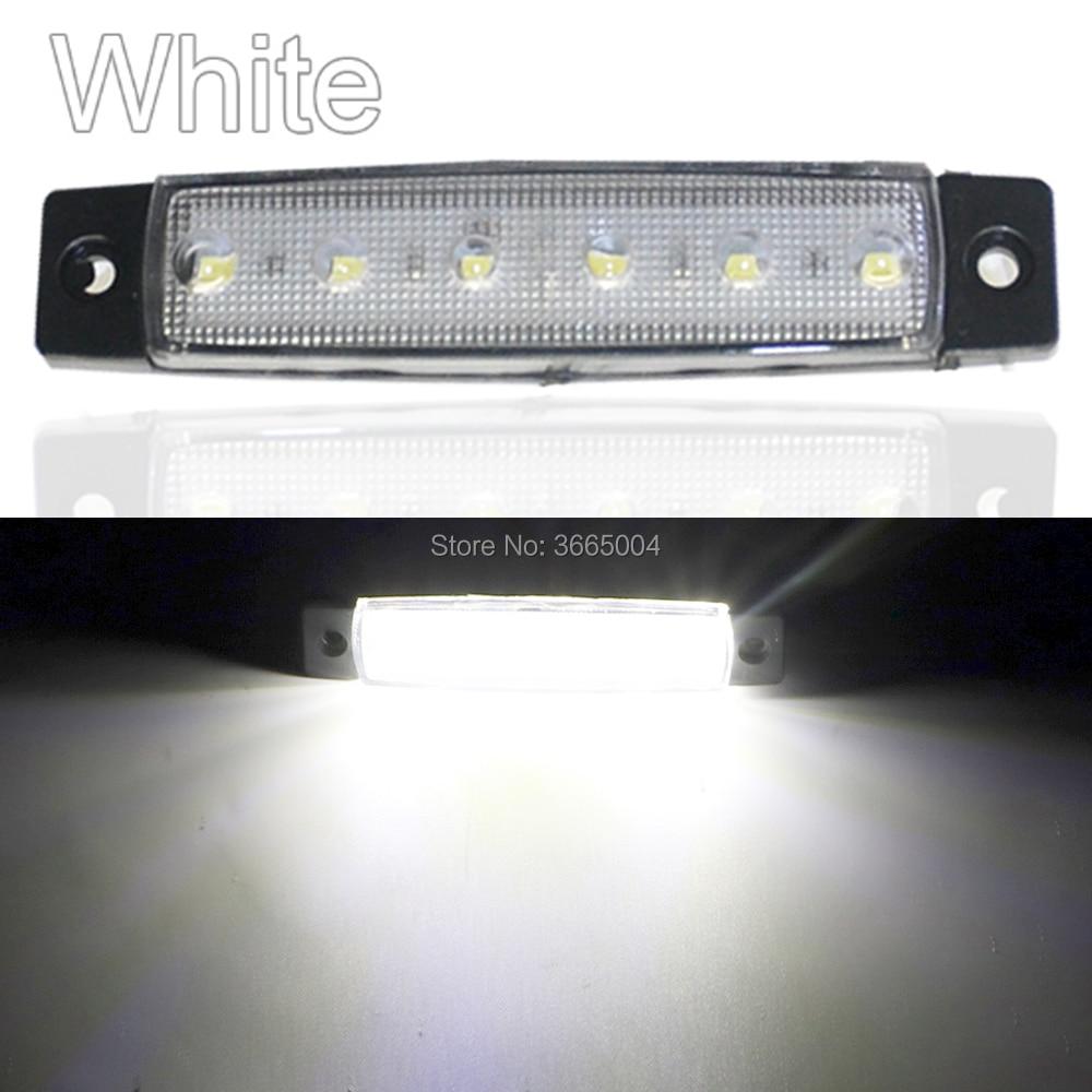 1pcs 96MM 6LED Side Clearance Lamp Tail Reverse Turn Signal Light Truck Trailer Lorry Warning Fog Parking Lighting