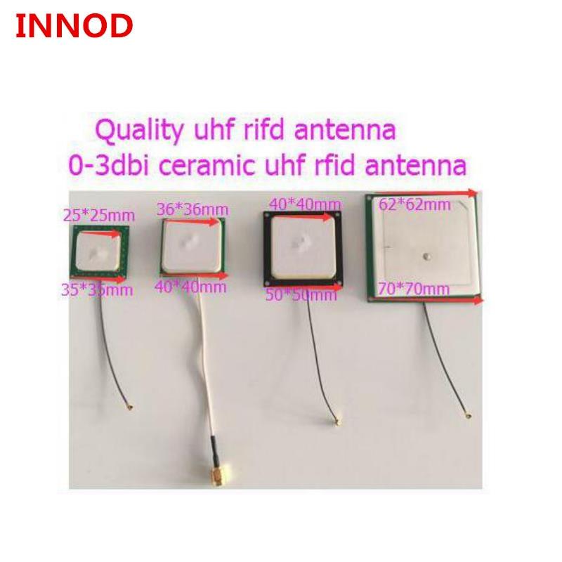 handheld desktop rfid reader uhf Android embedded system 4 set passive short read range 0-3dbi small ceramics uhf rfid antenna