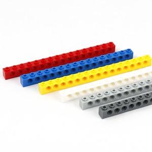Image 4 - Technic Brick 1 x 16 15 Holes Building Blocks Parts Enlighten MOC Toys for Children 3703 Technic Long Beam