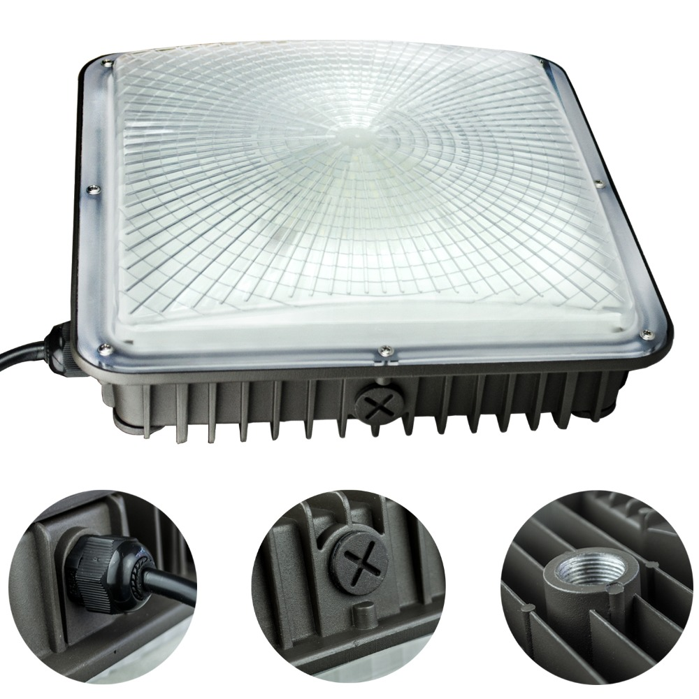 Gas Station and Garage Lighting 4Pack 70W LED Canopy Ceiling Bay Light 5500K