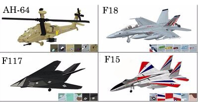 4PCS/Set 4D Plastic Assembled Airplane 1:144 Modern Aircraft F18 F14 F117 Apache Puzzle Assembling Military Fighter Toys ...