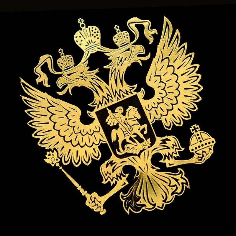 Электроформованные никелевые стандартные российские национальные эмблемы мобильный телефон наклейки для автомобиля