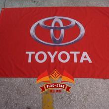 Oyota Автомобильный флаг, 3x 5ft полиэстер, Toyota баннер