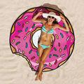 150 cm Redondo de Algodón Toalla de Playa Grandes Toallas de Playa Para Adultos Impresión Servilleta Plage de Adulte Toalla Toalha De Banho Playa