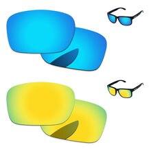0cbb4ade58a31 24 K de oro y azul hielo 2 pares polarizadas lentes para auténtica Holbrook  gafas de sol marco 100% UVA y UVB protección