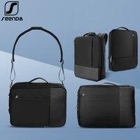 SeenDa Waterproof Laptop Bag for Men Women Student Notebook Bag Case for Macbook Pro Backpack Shoulder Bag for 13.3 15.6 inch