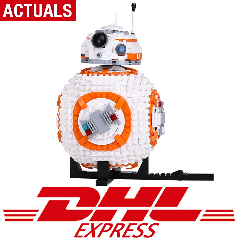 Actuals 05128 Star Toys Wars The Legoing 75187 BB8 Robot Set Building Blocks Bricks New Kids Toys Christmas Birthday Gifts Model 20cm ogrum 44007 robot brain attack hero factory 5 0 star soldier action figures model building bricks blocks kids toys gifts