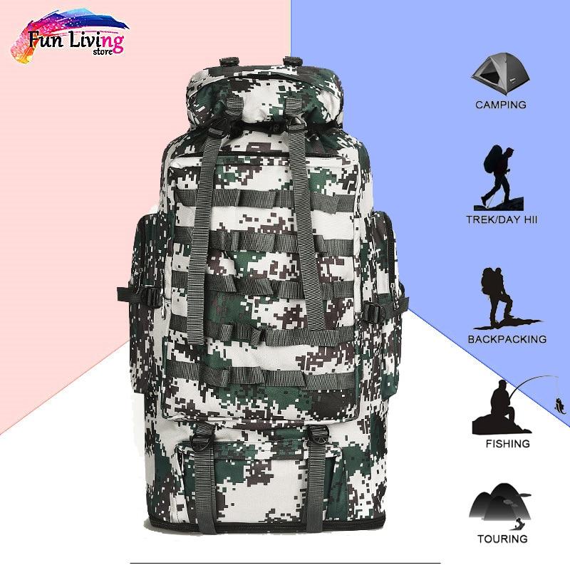 100L Sports escalade sacs Molle armée sac Camping sac à dos tactique grands sacs à dos randonnée voyage sacs de plein air sac à dos Rcbag032
