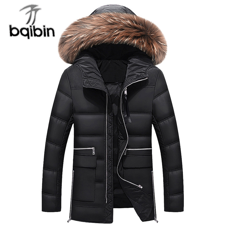 New Winter Jacket Men Brand Casual Thick Warm Mens Coats Padded Parkas With Fur Hooded Long Overcoat Clothing Male M-3XL free shipping winter parkas men jacket new 2017 thick warm loose brand original male plus size m 5xl coats 80hfx