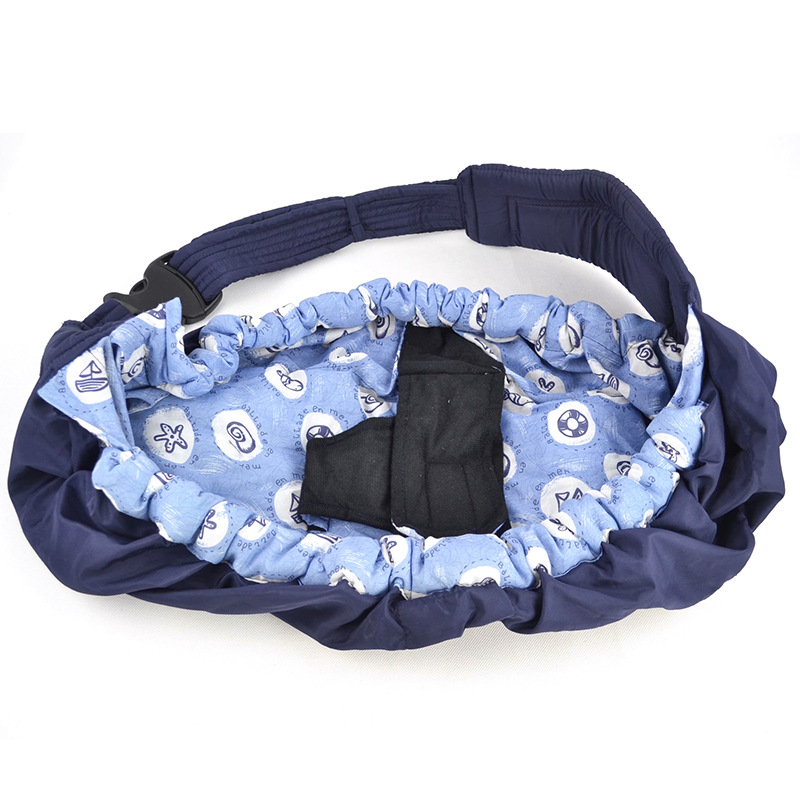 Blue Adjustable Baby Sling Stretchy Wrap Carrier Pouch Infant Birth Breastfeeding