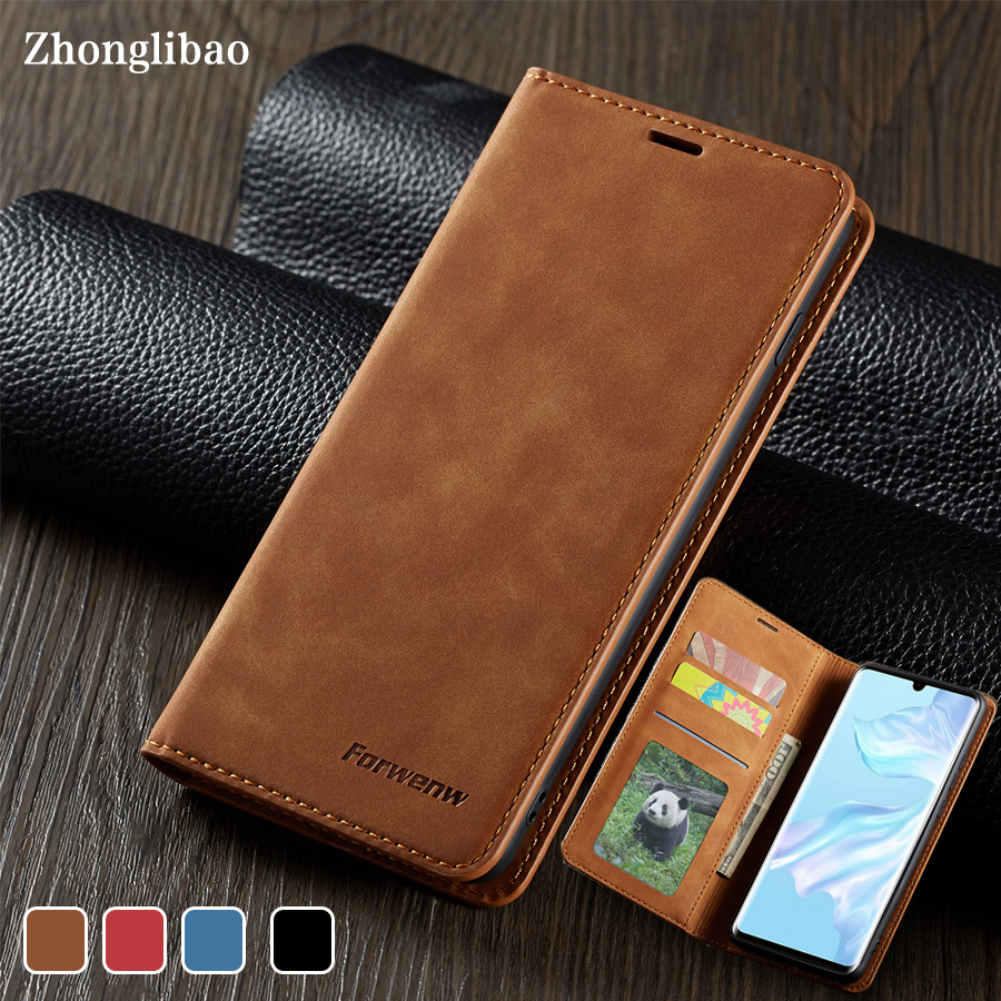 Luxury Leather p40lite Magnetic <font><b>Flip</b></font> Phone <font><b>Case</b></font> for <font><b>Huawei</b></font> P40 P30 P20 <font><b>Mate</b></font> <font><b>20</b></font> 30 Pro <font><b>Lite</b></font> P Smart 2019 Card Wallet Book Cover image