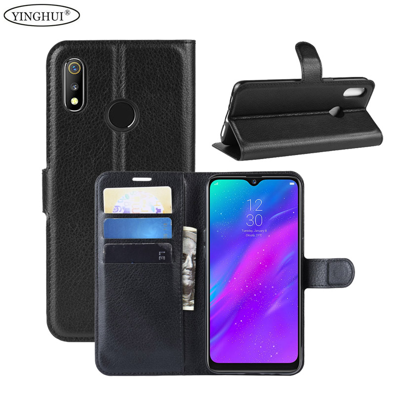For OPPO Realme 3 Case Wallet Style PU Leather Case For OPPO Realme 3 With Stand Function And Card Holder