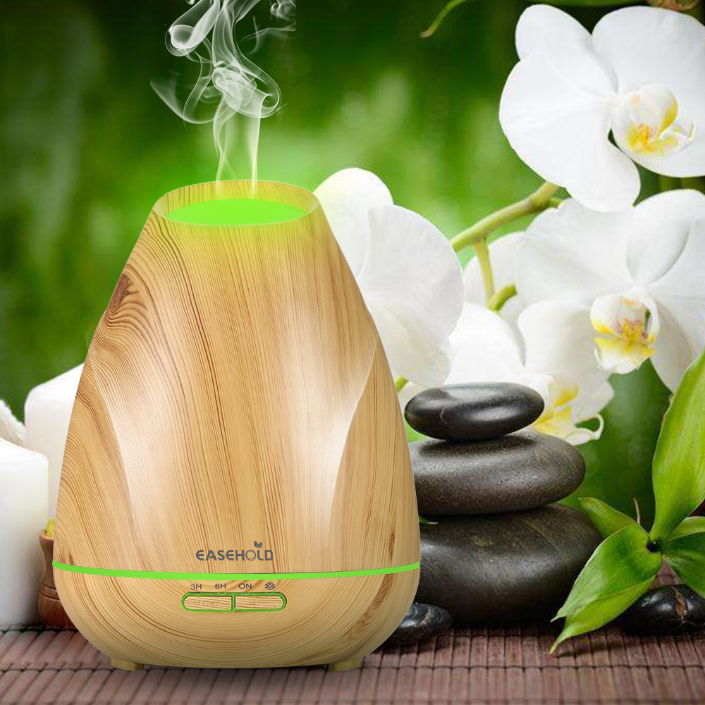 EASEHOLD 400Ml Essential Oil Diffuser Air Aroma Humidifier Aromaterapi Electric Ultrasonic Diffuser Mist 30s Internal 7 Colors