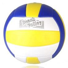 Новинка, брендовый размер 5, PU кожаный для волейбола, официальный тренировочный мяч для игры в волейбол, внутри, на открытом воздухе, для пляжной игры, волейбол